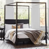Beatnik Four Poster Bed in Black - SuperKing