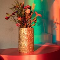 Product photograph showing Bold Monkey Songs Of The Night Tiger Vase - Gold