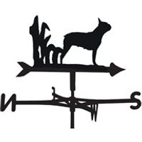 Product photograph showing Weathervane In Boston Terrier Design - Medium Cottage