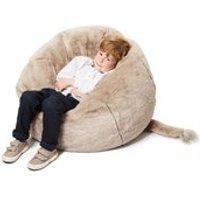 Product photograph showing Kids Faux Fur Elephant Bean Bag