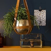 Dutchbone Oasis Plant Hanger with Leather Straps