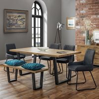 Julian Bowen Brooklyn Dining Set with 4 Soho Chairs and Bench