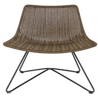 OTIS RETRO RATTAN CHAIR in Brown