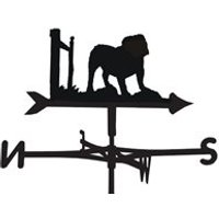 Product photograph showing Weathervane In Bulldog Design - Medium Cottage