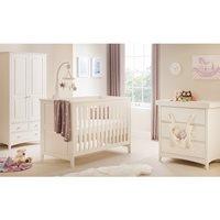 Product photograph showing Julian Bowen Cameo 2 Piece Nursery Set In Stone White