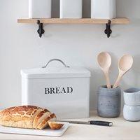 Garden Trading Metal Bread Bin - Clay