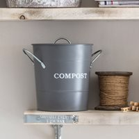 Garden Trading Compost Bucket - Charcoal