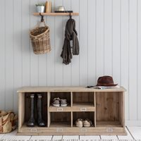 Garden Trading Chedworth Wooden Welly & Shoe Rack