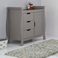 Product photograph showing Obaby Stamford Dresser Baby Changing Unit In Taupe Grey