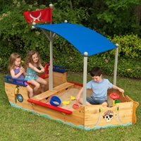 Kidkraft Childrens Pirate Boat Sand Pit and Play Bench