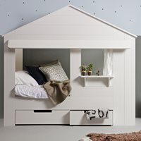 Product photograph showing Woood Kids House Cabin Bed With Optional Storage Drawers