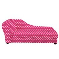 KIDS CHAISE LONGUE in Pink Heart Design