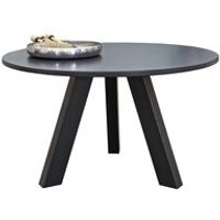 Product photograph showing Wooden Circle Dining Table In Black Pine