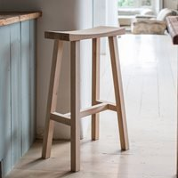 Product photograph showing Garden Trading Tall Clockhouse Stool In Raw Oak