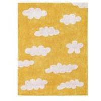 Product photograph showing Lorena Canals Clouds Washable Kids Rug - Vintage Blue