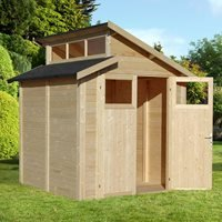 Rowlinson Paramount 7x7 Skylight Shed - Natural