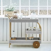 Product photograph showing Sika James Woven Drinks Trolley