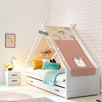 Product photograph showing Coolkids Unicorn Tipi Bed