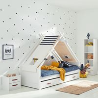 Product photograph showing Coolkids Superhero Tipi Bed