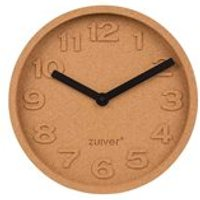 Product photograph showing Zuiver Cork Wall Clock With Moulded Numbers