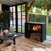 Product photograph showing Cosi Fires Cosivista Outdoor Fireplace - 120cm