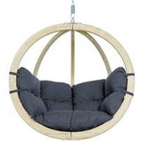 Globo Garden Hanging Chair in Weatherproof Anthracite