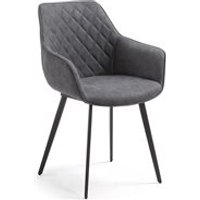Aminy Upholstered Armchair in Graphite