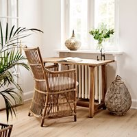Product photograph showing Sika Rattan Davinci Armchair In Antique