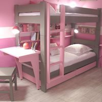 Mathy by Bols Kids Bunk Bed with Drawers & Desk in Dominique Design
