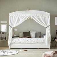 Lifetime Dottie Four Poster Bed - Lifetime Whitewash