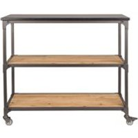 Product photograph showing Dutchbone Consuela Shelving Unit With Wheels