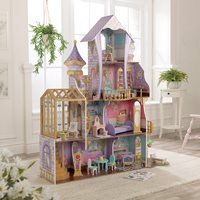 Product photograph showing Kidkraft Enchanted Greenhouse Castle Dollhouse