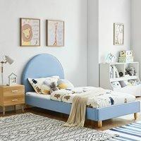 Ezra Upholstered Single Bed - Blue
