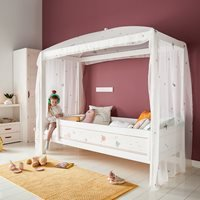 Lifetime Fairy Dust Four Poster Bed - Lifetime Whitewash