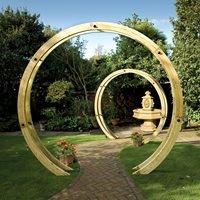 Grange Wooden Freestanding Flower Circle Arch - Spike Soft Ground Fixing