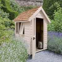 Product photograph showing Forest Garden 6x4 Retreat Shed - Pebble Grey