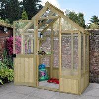 Product photograph showing Forest Garden 6x4 Vale Greenhouse
