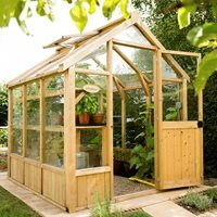 Product photograph showing Forest Garden 8x6 Vale Greenhouse