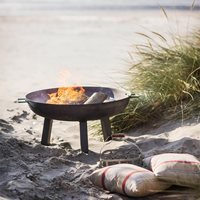 GARDEN TRADING FOSCOT OUTDOOR FIRE PIT in Raw Steel - Small
