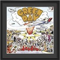 Green Day Framed Album Wall Art in Dookie Print - Large