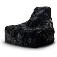 EXTREME LOUNGING MIGHTY B SHEEPSKIN FUR BEAN BAG in Black