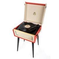 GPO Bermuda Record Player Turntable in Red & Cream