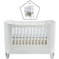 Product photograph showing Gaia Baby Serena Complete Sleep Cot Bed Co-sleep - White And Natural
