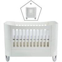 Product photograph showing Gaia Baby Serena Complete Sleep Cot Bed Mini - White And Natural