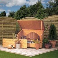 Rowlinson Wooden Garden Storage Chest in Honey Brown