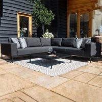 Maze Rattan Eve Corner Sofa Set  - Charcoal