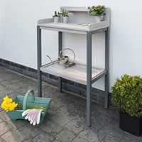 Product photograph showing Grigio Wooden Potting Table