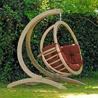 Product photograph showing Globo Garden Hanging Chair Stand In Terracotta