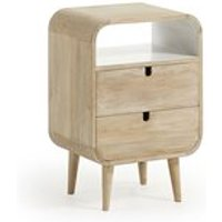 Gerald Mango Wood Bedside Table with 2 Drawers