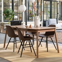 Product photograph showing Zuiver Glimps Extending Dining Table In Walnut Veneer - Medium